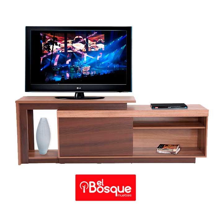 mesa para tv pegasus capuccino woodebano